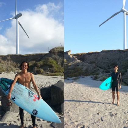 TWINS & 2 surfboards
